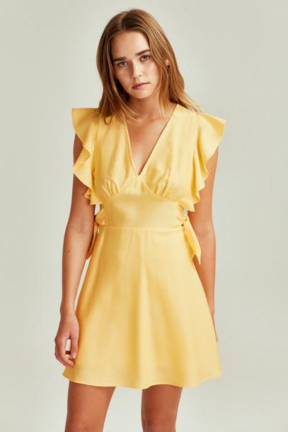 THE FIFTH RESERVE DRESS daffodil