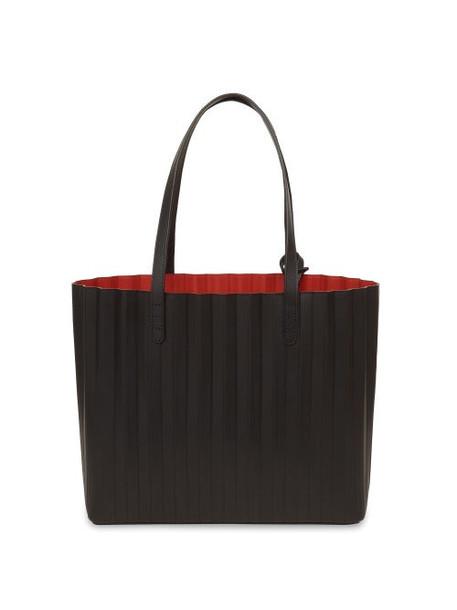 Mansur Gavriel - Pleated Leather Tote Bag - Womens - Black