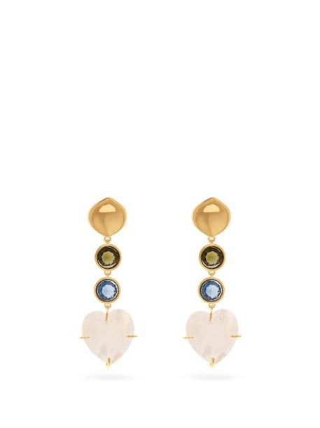 Lizzie Fortunato - A Little Love Mother Of Pearl Earrings - Womens - Multi
