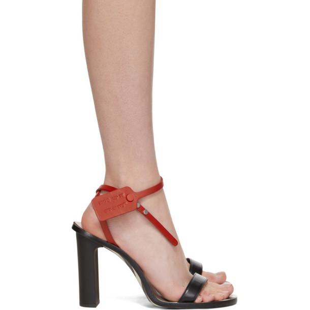 Off-White Black Zip-Tie Capri Heeled Sandals