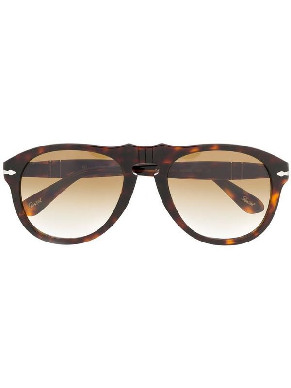 Persol tortoiseshell-effect sunglasses in brown