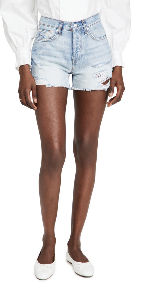 7 For All Mankind Monroe Cut Off Shorts in blue