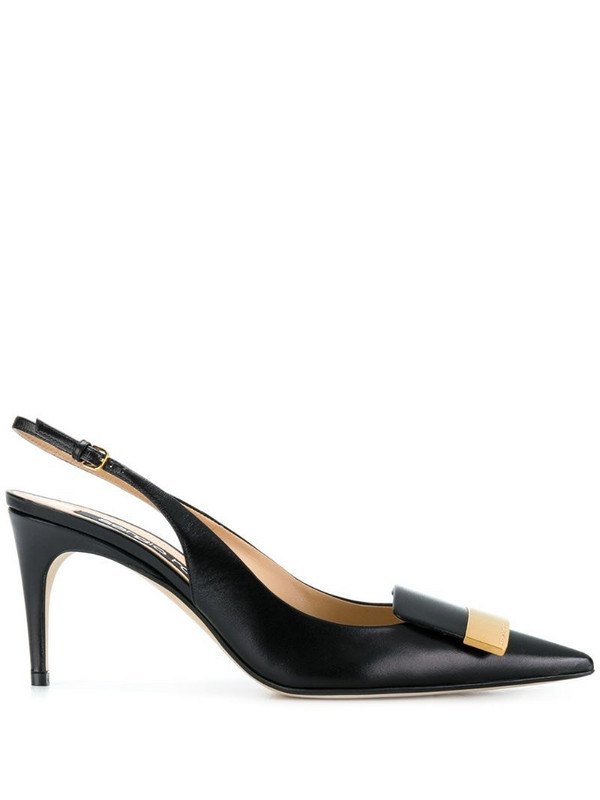 Sergio Rossi sling-back pointed pumps in black