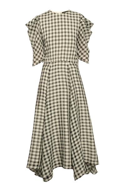 Anna October Annushka Checked Seersucker Maxi Dress Size: XS