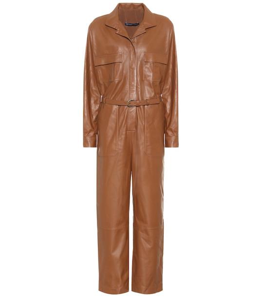 Zeynep Arçay Leather jumpsuit in brown