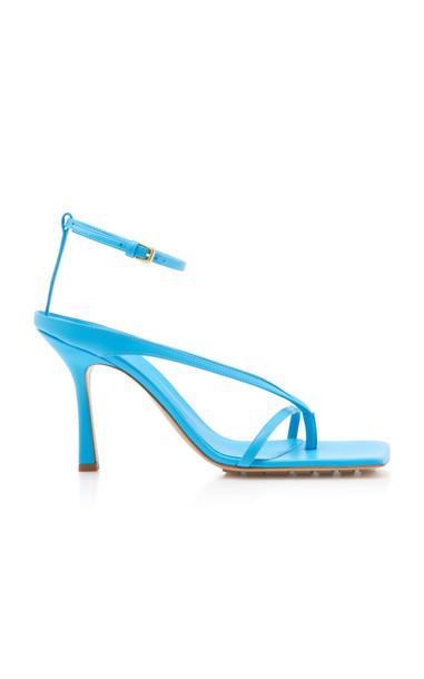 Bottega Veneta Dream Leather Sandals Size: 40 in blue