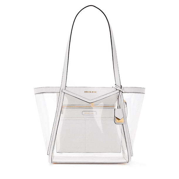 Michael Kors Whitney Pvc Shoulder Bag in bianco