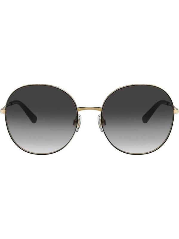 Dolce & Gabbana Eyewear logo frame sunglasses in gold