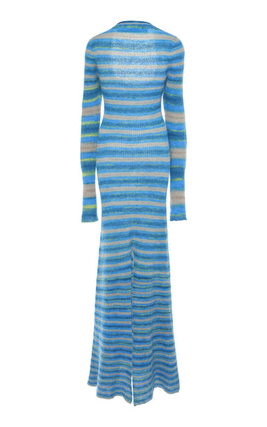 Jacquemus La Robe Perou Striped Wool Maxi Dress