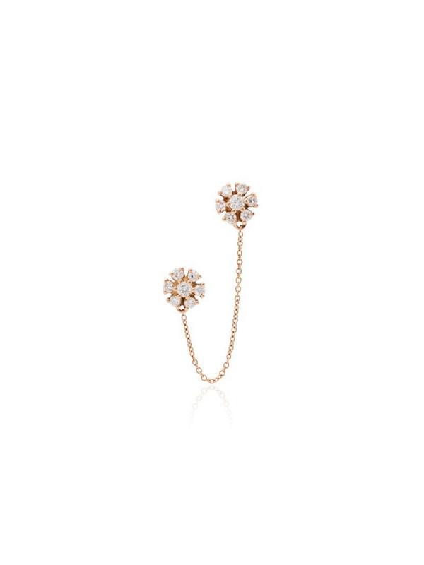 Dana Rebecca Designs Jennifer 14kt rose gold diamond earring in pink