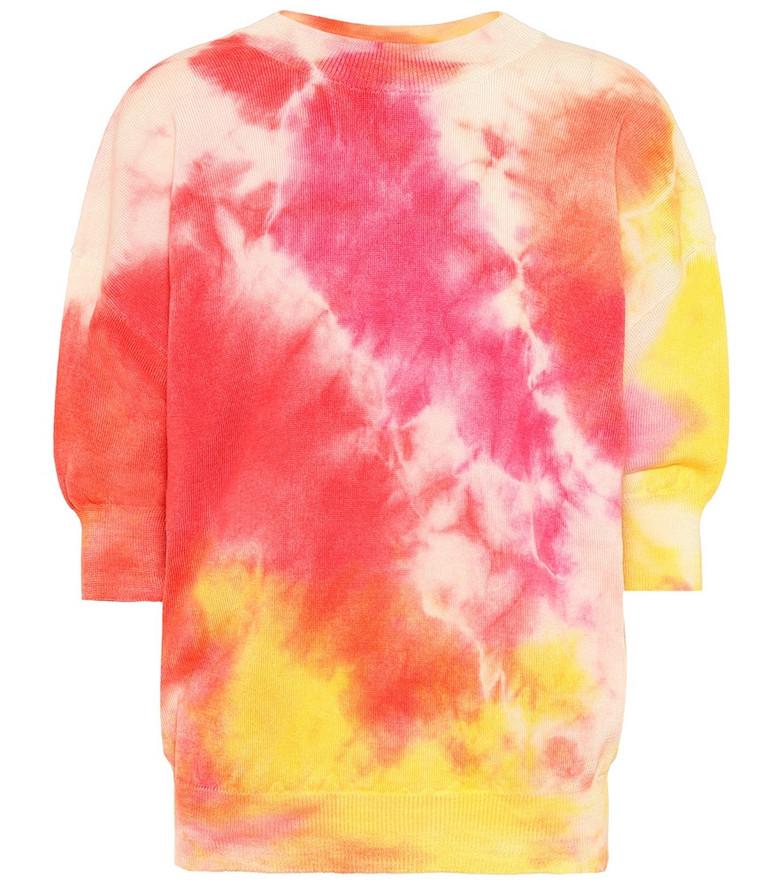 MSGM Tie-dye wool sweatshirt