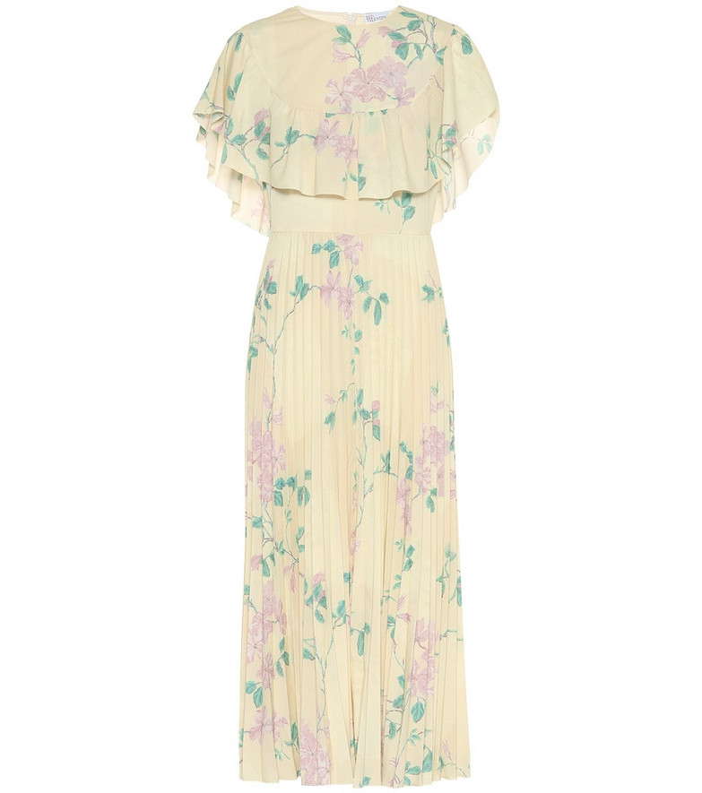 REDValentino Floral crêpe dress in yellow