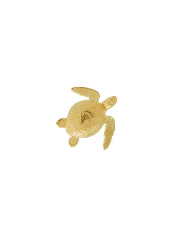 Alex Monroe 18kt yellow gold Teeny Tiny Sea Turtle stud earrings