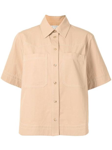 Lee Mathews May short-sleeve shirt in neutrals