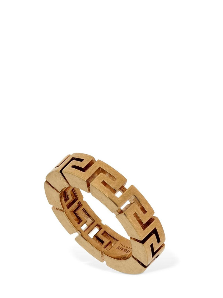 VERSACE Greek Motif Thick Ring in gold