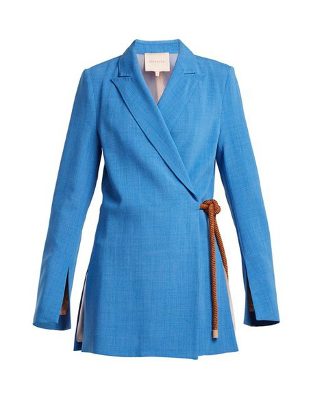 Roksanda - Belted Rope Jacket - Womens - Blue