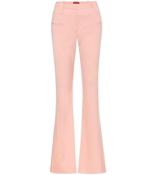Altuzarra Serge flared stretch-wool pants in pink