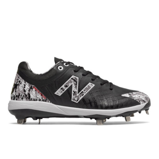 New Balance 4040v5 Pedroia Metal Men's Cleats and Turf Shoes - Black/White/Red (L4040PK5)