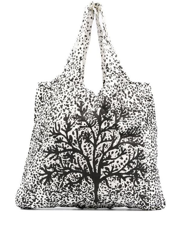 10 CORSO COMO paint splatter-print tote bag in white