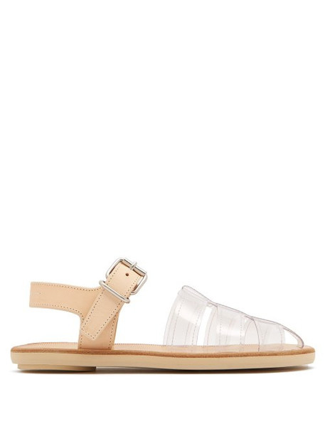 Mm6 Maison Margiela - Perspex And Leather Cage Sandals - Womens - Tan