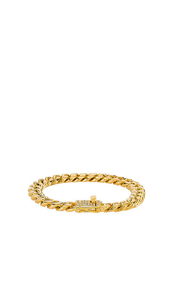 8 Other Reasons Main Attraction Bracelet in Metallic Gold