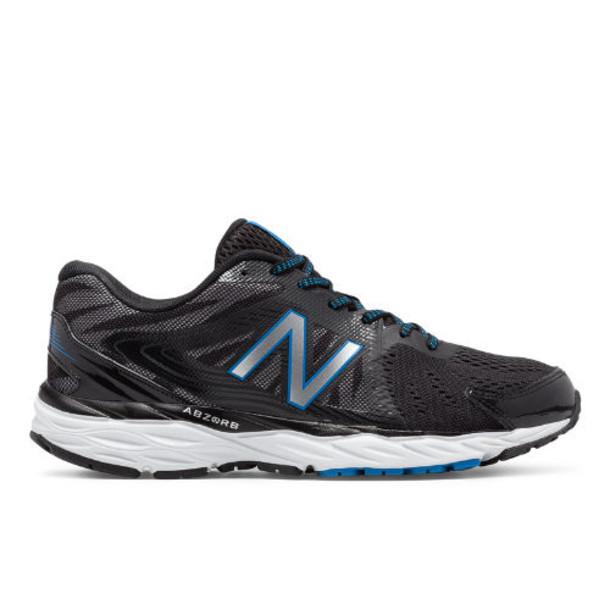New Balance 680v4 Men's Everyday Running Shoes - Black/White/Blue (M680LB4)