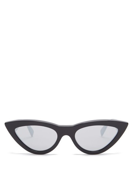 Celine Eyewear - Cat Eye Mirrored Acetate Sunglasses - Womens - Black