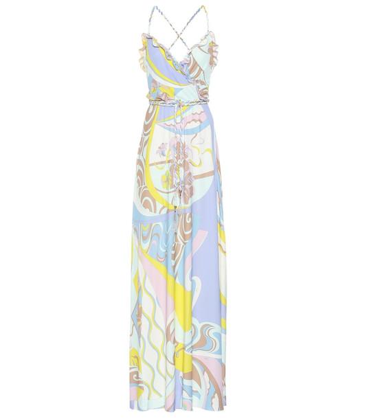 Emilio Pucci Printed maxi dress in yellow