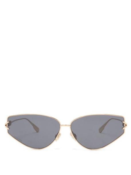 Dior Eyewear - Diorgypsy2 Small Cat-eye Metal Sunglasses - Womens - Black