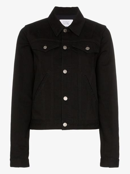 Givenchy logo back cotton denim jacket