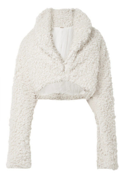 Cult Gaia - Evie Cropped Faux Shearling Jacket - Off-white