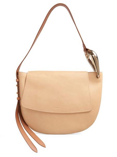 Chloé Chloé - Kiss Leather Shoulder Bag - Womens - Beige