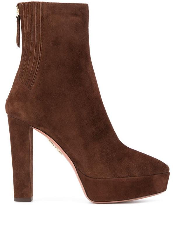 Aquazzura Saint Honoré boots in brown