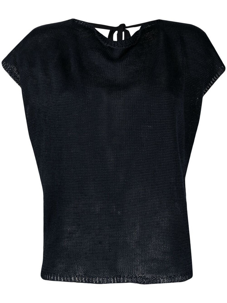 P.A.R.O.S.H. P.A.R.O.S.H. tie-back knitted top - Blue