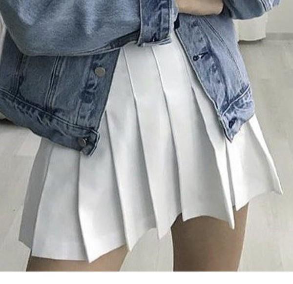 skirt pinterest fold over pleated skirt pleated pleats cute white white skirt