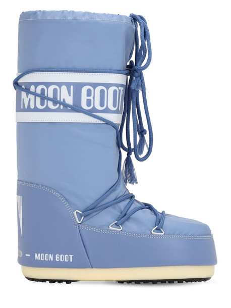 MOON BOOT Classic Nylon Waterproof Snow Boots in stone