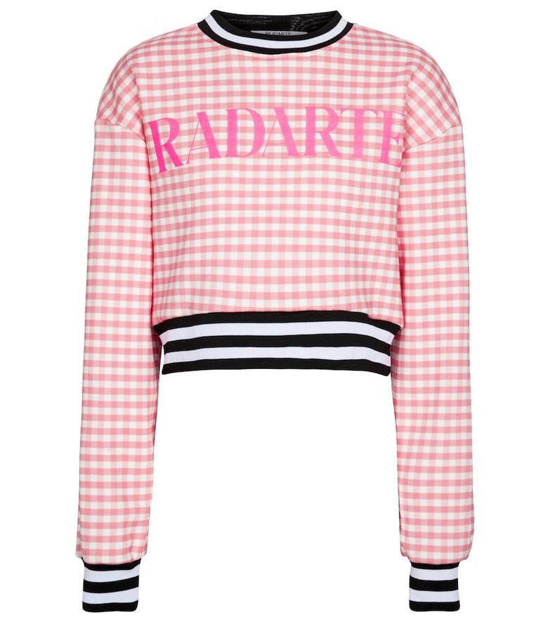 Rodarte Gingham cotton-blend sweatshirt in pink