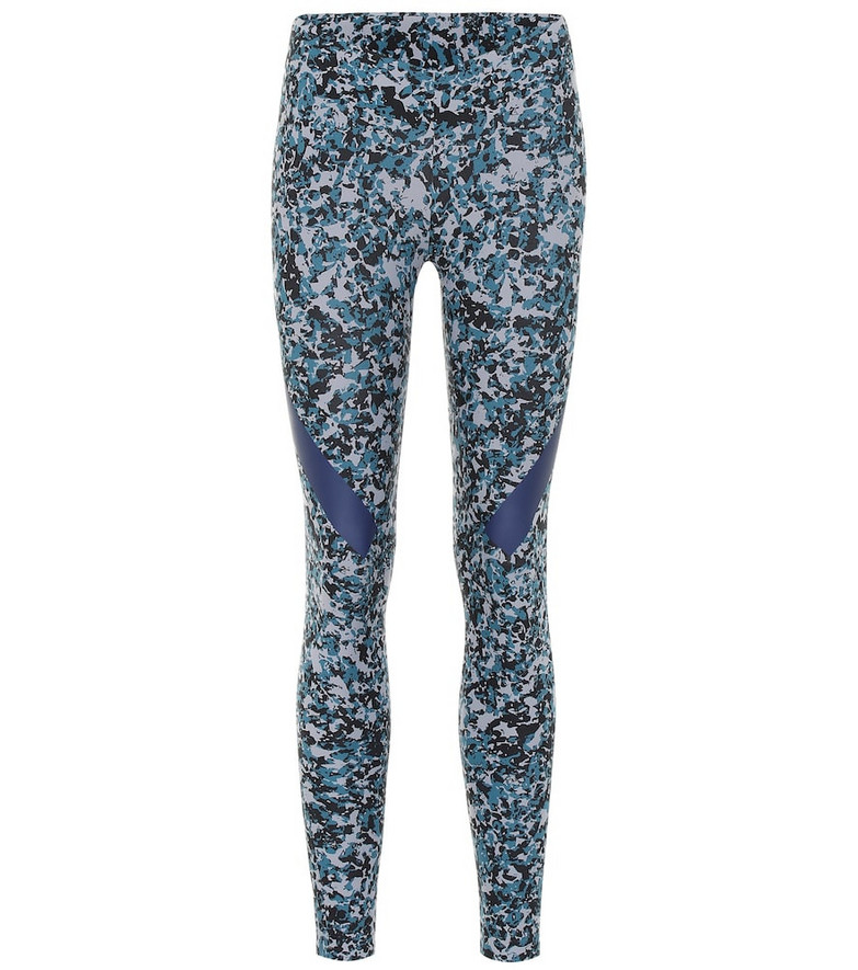 Adidas by Stella McCartney Alphaskin Tight printed leggings in blue