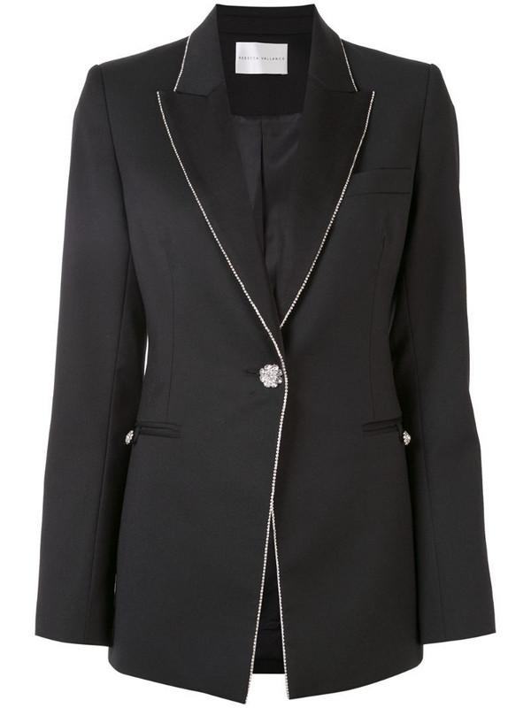 Rebecca Vallance Starwood crystal-embellished blazer in black