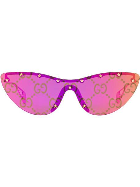 Gucci Eyewear GG0666S cat-eye frame sunglasses in pink