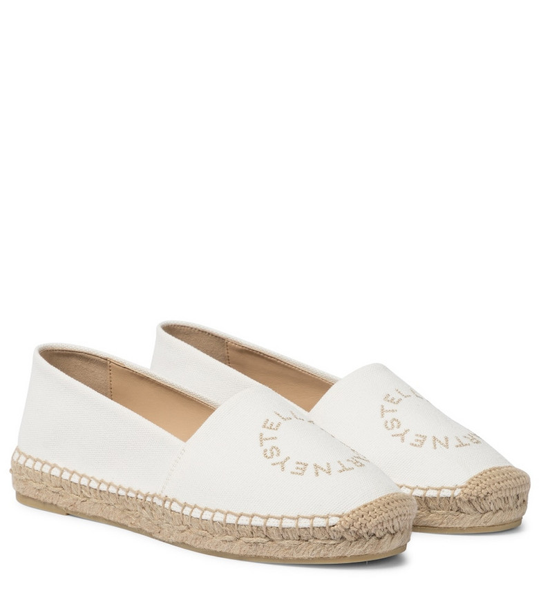 Stella McCartney Selene canvas espadrilles in white