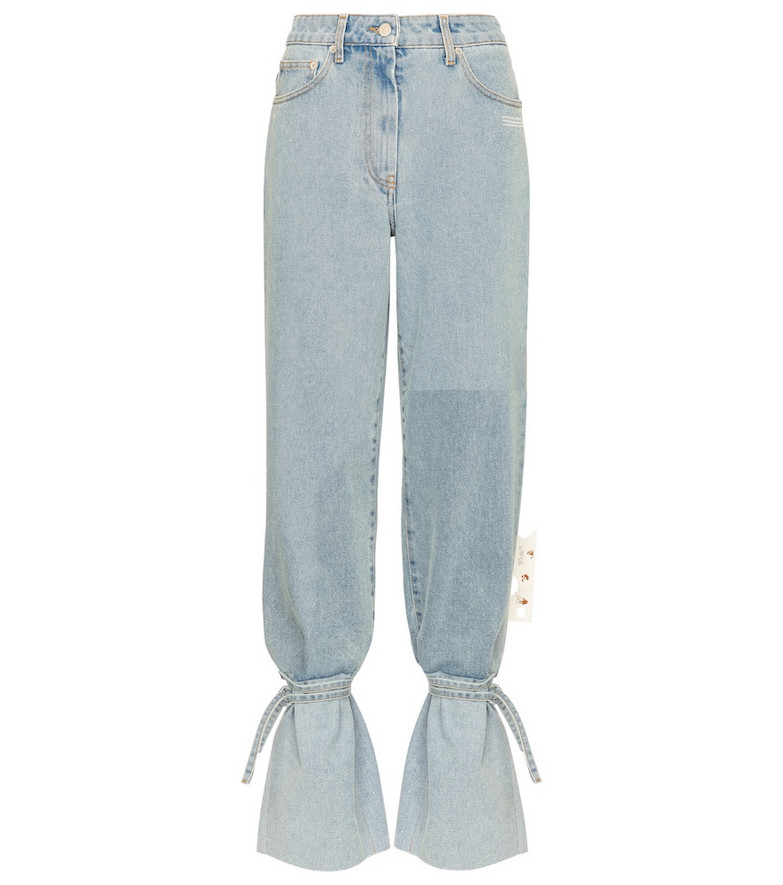 Off-White High-rise straight jeans in blue