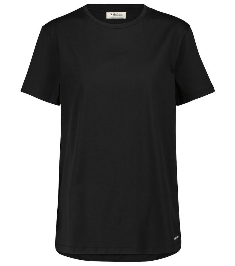 'S Max Mara Acqui cotton T-shirt in black