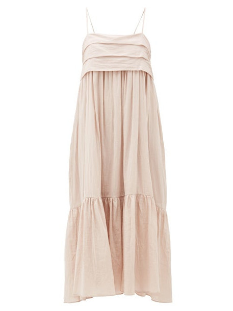 Loup Charmant - Iliana Bow-back Organic-cotton Dress - Womens - Pink