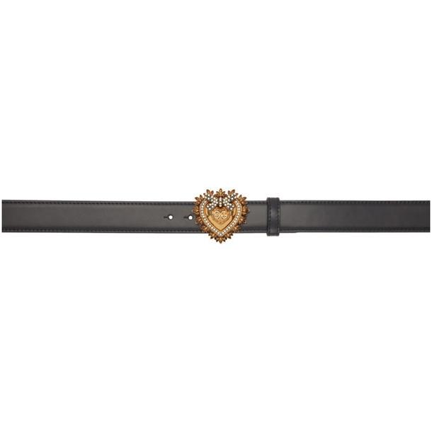 Dolce and Gabbana Dolce & Gabbana Black Devotion Belt