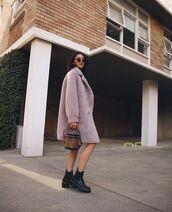 coat,faux fur coat,black boots,boxed bag,louis vuitton bag