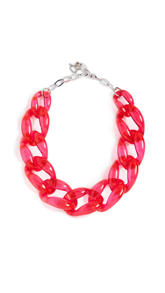 Diana Broussard Nathan Medium Link Chain Necklace in fuchsia