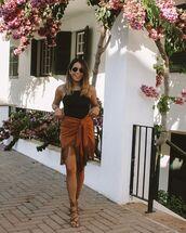 skirt,mini skirt,fringes,zara,sandals,tank top,black top