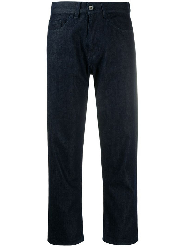YMC loose fit straight leg jeans in blue