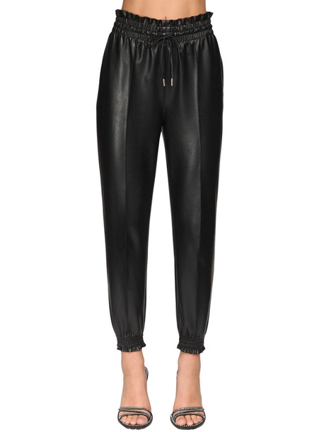ERMANNO SCERVINO Faux Leather Jogging Pants in black